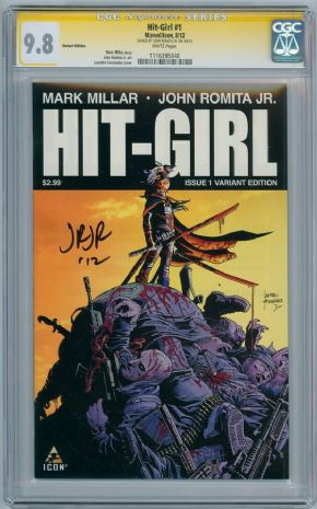 Hit-Girl #1 Fernandez Retail Variant CGC 9.8 Signature Series SS Signed John Romita JR Kick-Ass comic